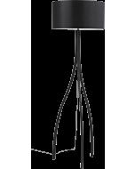 zwarte design vloerlamp