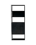 Moderne Boekenkast Bora Zwart 3 Vaks
