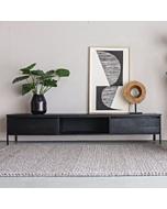 TV-meubel Zwart Hout 240cm York