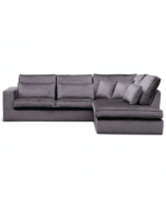 Hoekbank Velours Luxe Taupe Stof VR