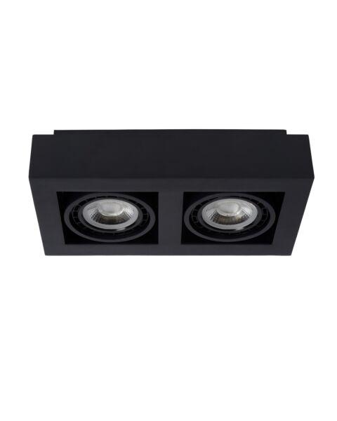 Plafondspot Zefix Zwart  2 Lampen