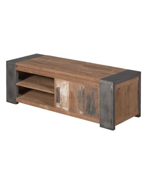 Industriële Tv-meubel Novara Bruin 140 cm | Zen Lifestyle