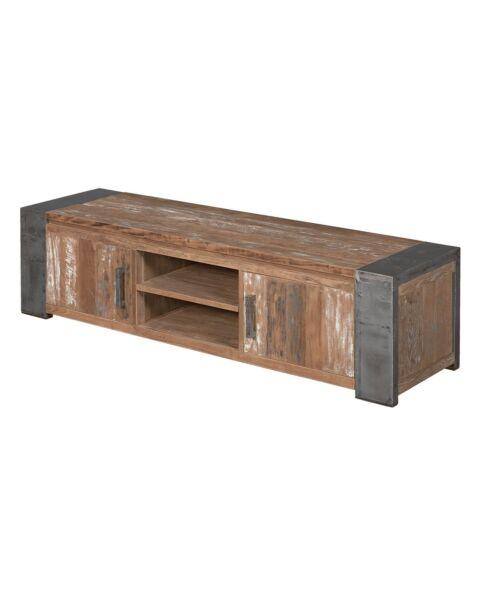 Industriële Tv-meubel Novara Bruin 180 cm