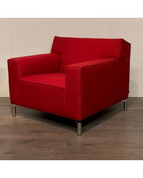 Fauteuil Rood Stof   Woonoutlet Wijchen