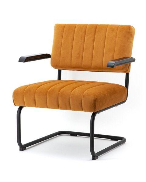 stoel lounge oker geel