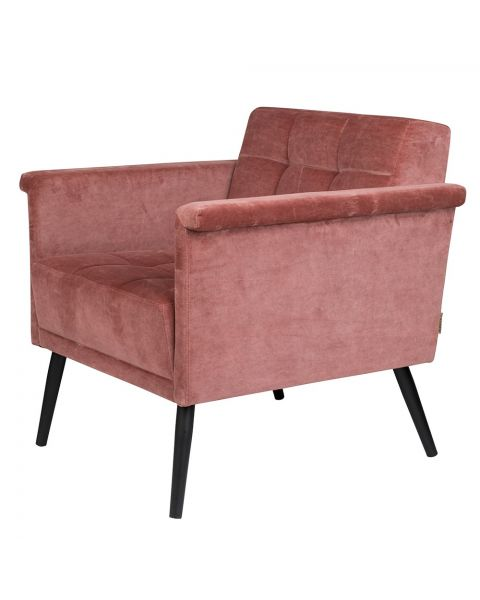 Dutchbone lounge fauteuil Sir William Vintage Pink