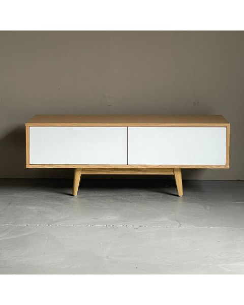 Tv-meubel Retro Wit Eiken 120cm