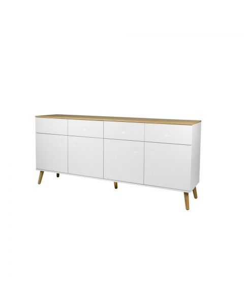 Scandinavisch Dressoir Stip L Wit