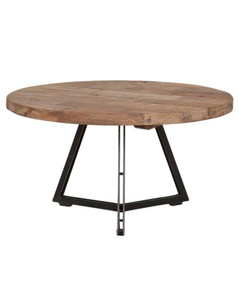 ronde salontafel teak hout