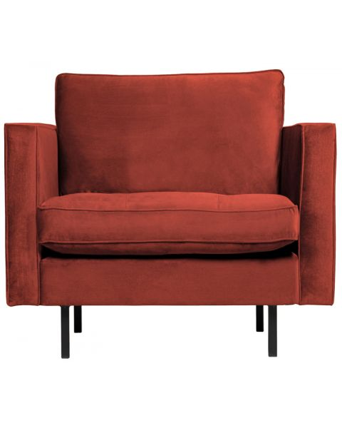BePureHome Rodeo Classic Fauteuil Velvet Chestnut
