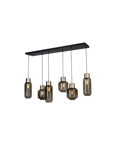 hanglamp lett mat goud 6-lichts