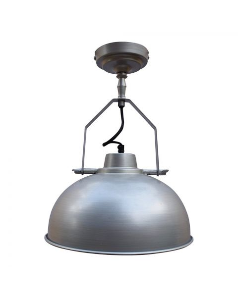 Industriële Plafondlamp Urban Zink