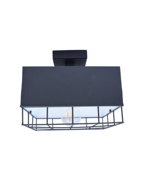 Industriële Plafondlamp Cage Vintage Black