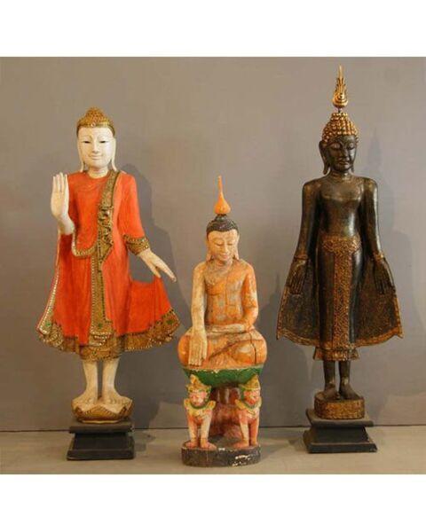 Buddha Black Standing Thailand
