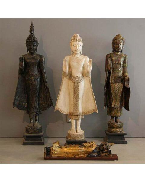 Buddha Standing Black Thailand