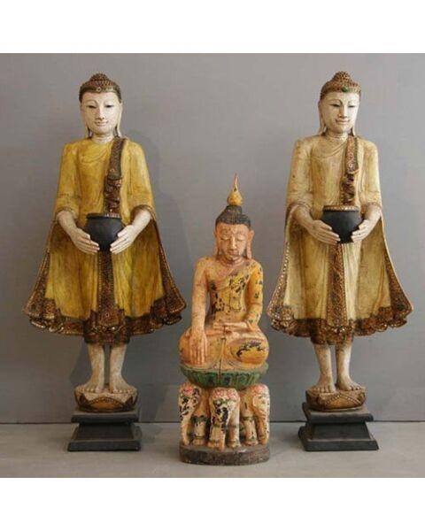 Buddha Standing Yellow Thailand