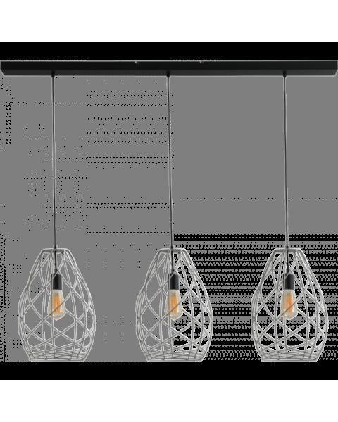 drielichts hanglamp betonlook
