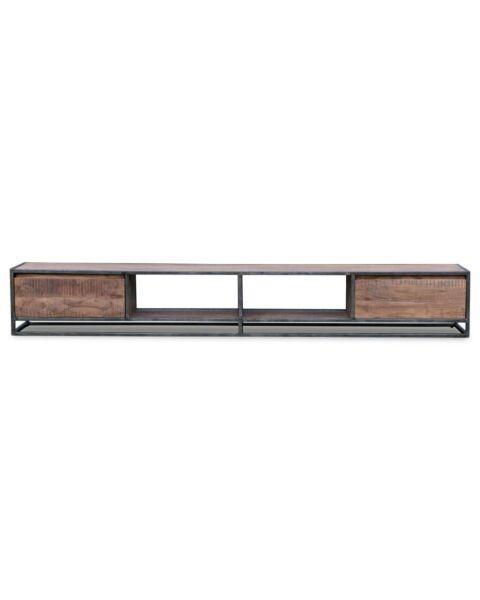 Industrieel TV-dressoir metaal Darwin 240 cm