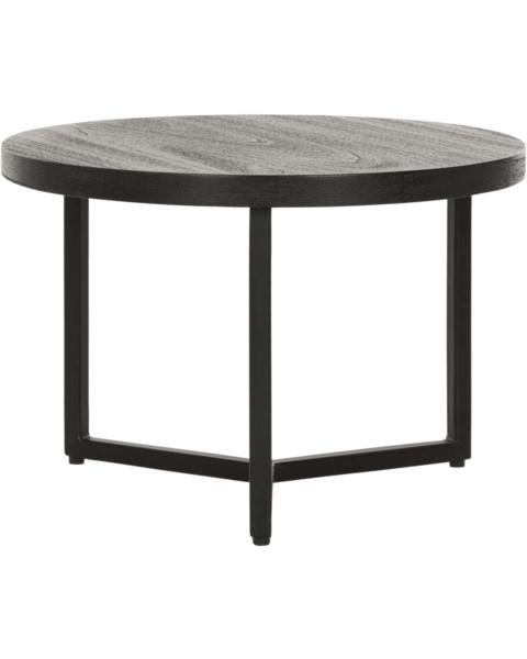 ronde zwarte salontafel