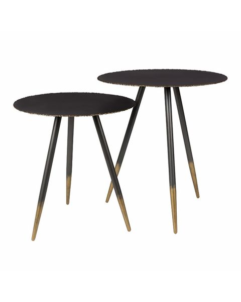 zwart met gouden tafeltjes