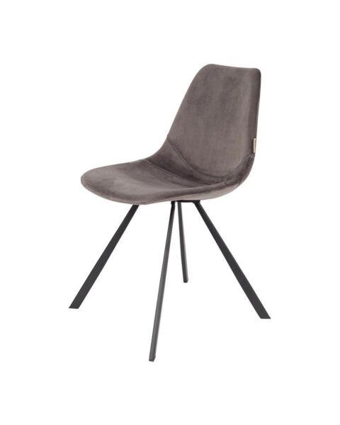 stoel velvet grijs