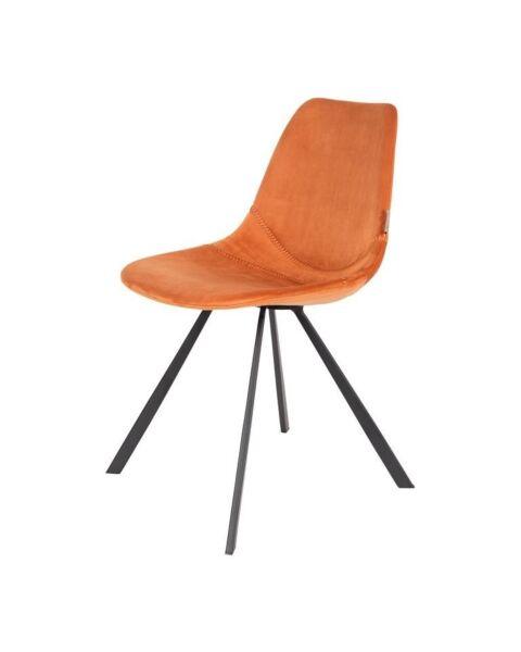 stoel velvet oranje