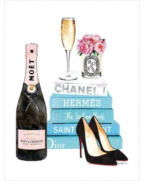 Glasschilderij Champagne