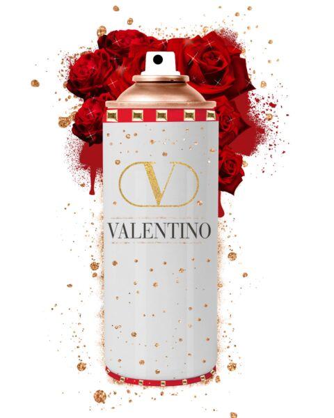 Glasschilderij Spuitbus Valentino