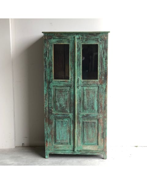 Oude Cabinet Hout India Blauw | Zen Lifestyle