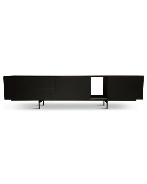 zwart tv dressoir design