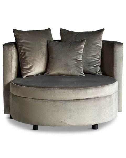 Luxe Lounge Fauteuil Vermont Taupe Medium