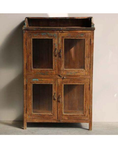 oud houten almirah kast