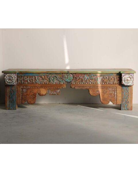 houten tafel oud india