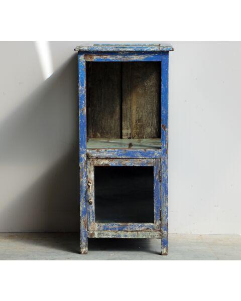 houten blauwe kastje uit india