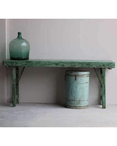 india sidetable hout groen