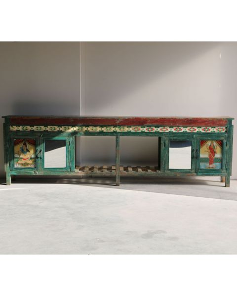 wooden tile sideboard