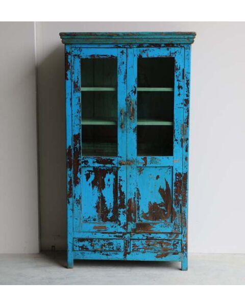 Blauw India Wandkast