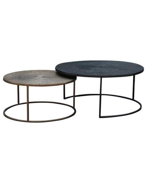 Luxe salon tafel set metaal