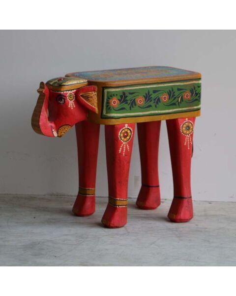 houten bijzettafel olifant
