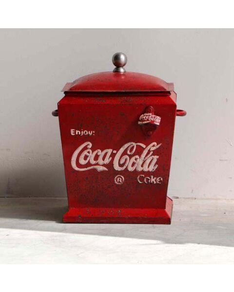 Oud Coca Cola Metalen Pot