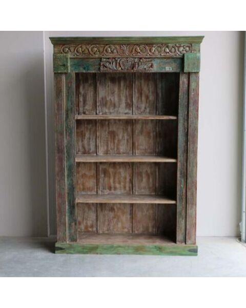 india boekenkast oud hout