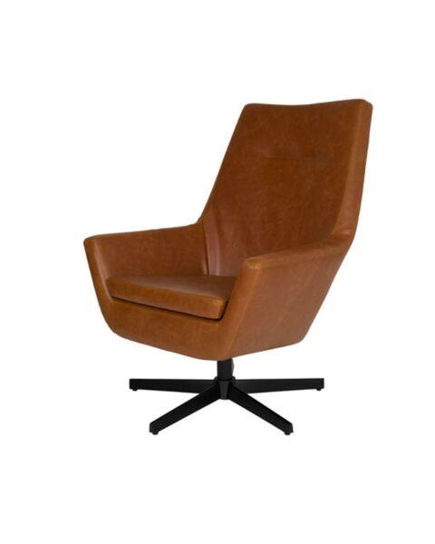 Lounge Chair Don -Cognac