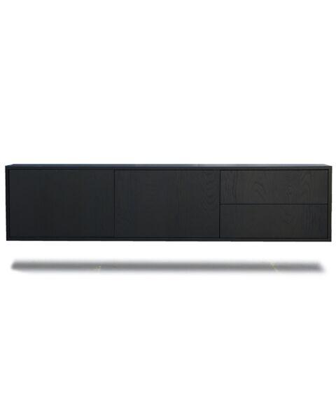 zwevend tv dressoir 180cm zwart wenge