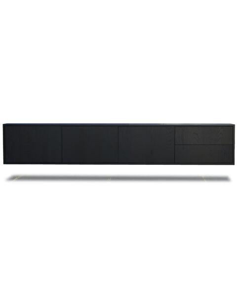 luxe meubelen tv dressoir mat zwart wenge 240cm