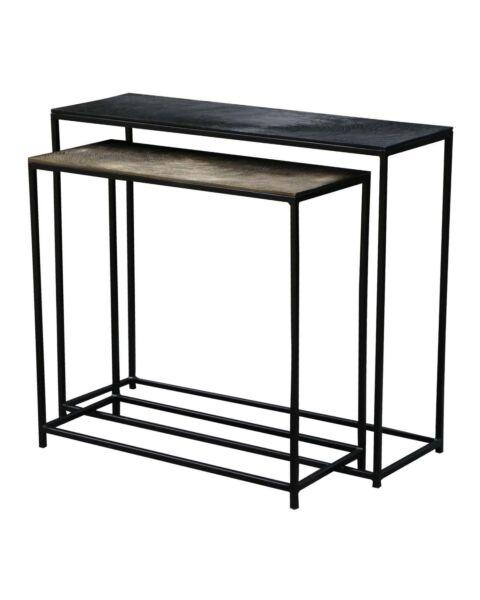 metalen side table zwart goud