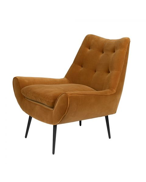 dutchbone lounge chair glodis whiskey