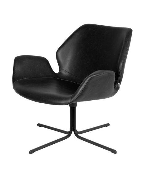 lounge fauteuil zwart