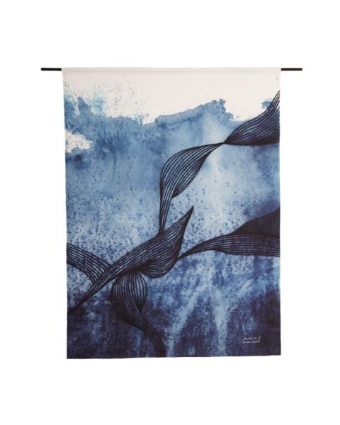 Urban Cotton Wandkleed Blue Denim Large