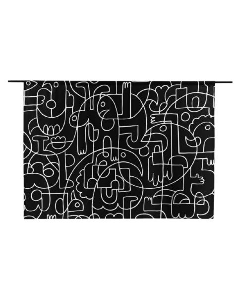 Urban Cotton Wandkleed Doodles Large
