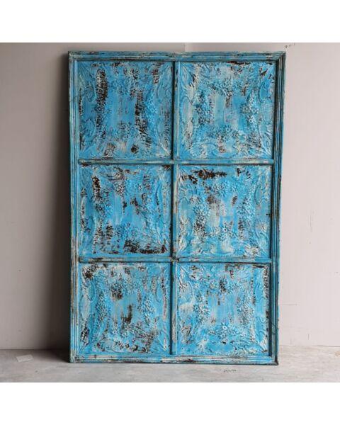 houten paneel blauw